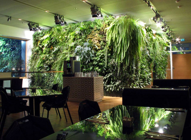 vertical garden cafe1