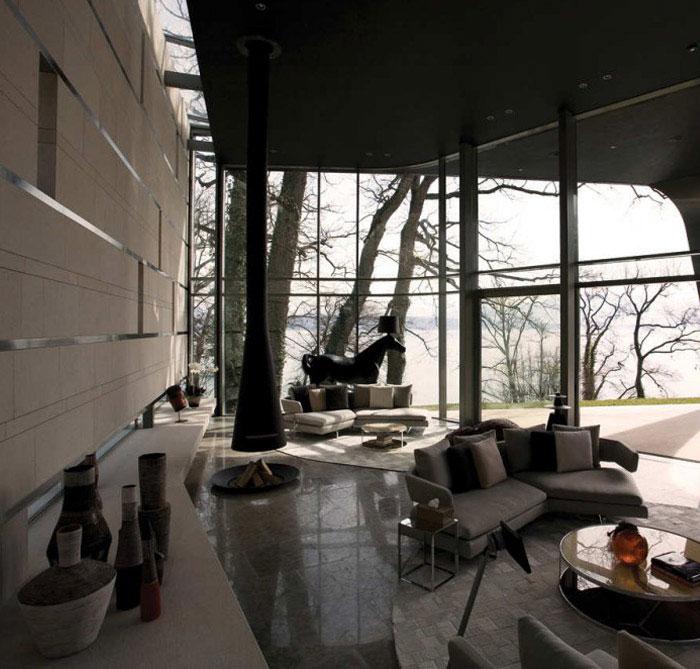 african aesthetic house livingroom