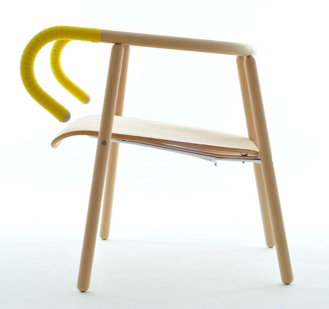 chair with visual forms bike