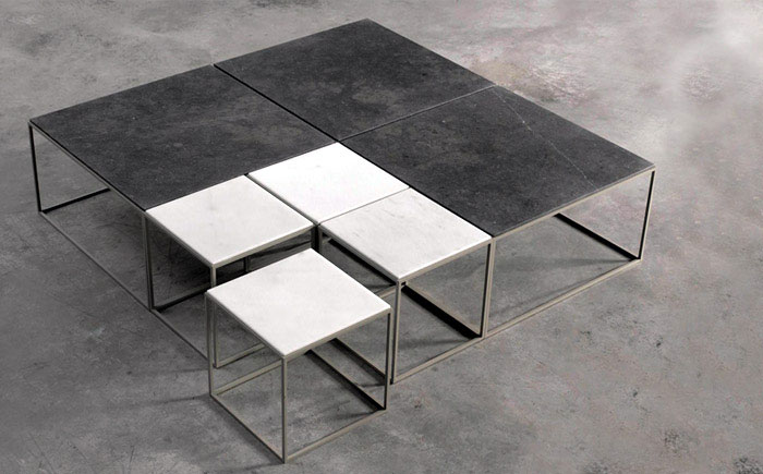 metal frame sidetable