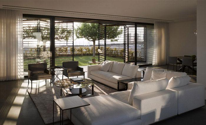 modern architecture dream home living area