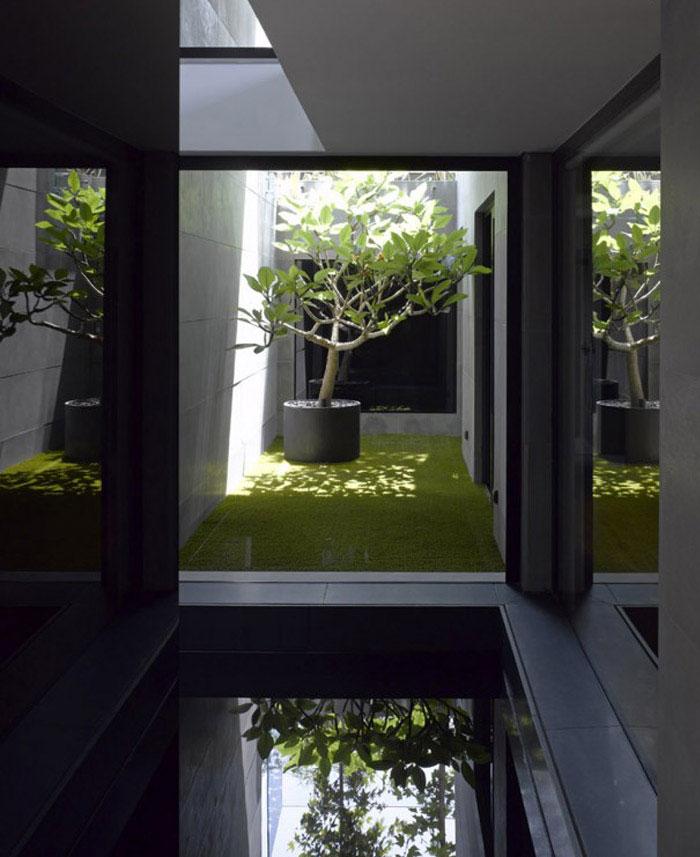 modern architecture dream home pool area