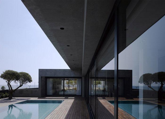 modern architecture dream home pool