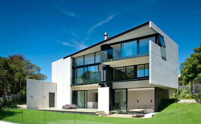 modern family home outdoor