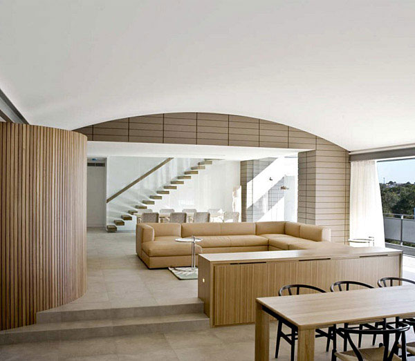 modern sustainable home living area