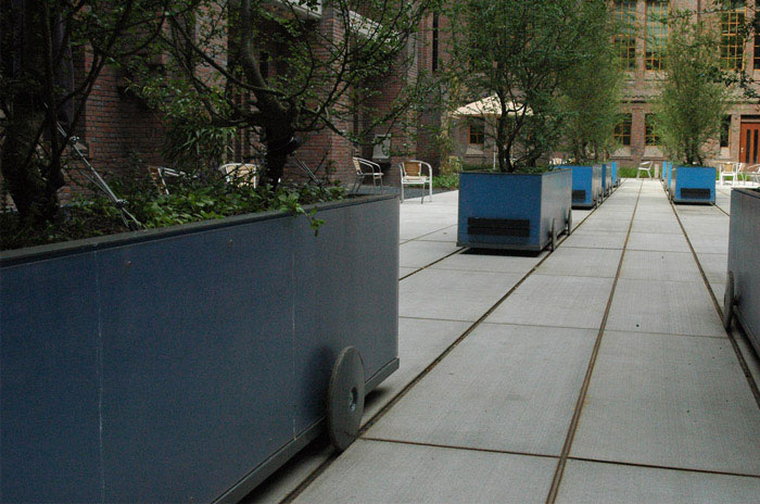 outdoor space with railway organisation