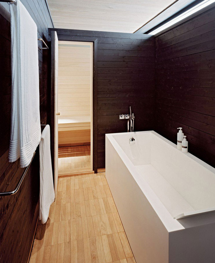 stylish home interior bathroom