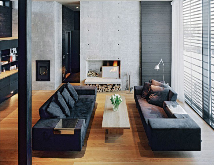 stylish home interior living area