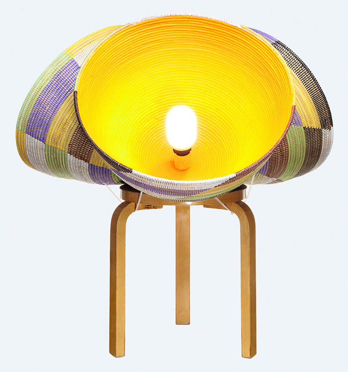 triple basket lamp