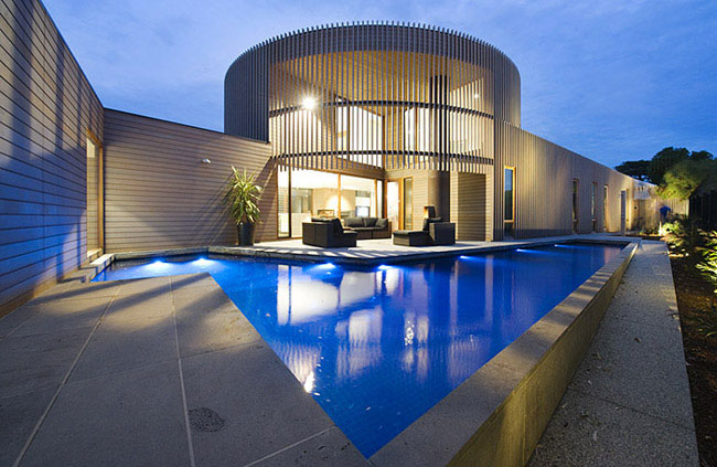 contemporary sculptural building outdoor