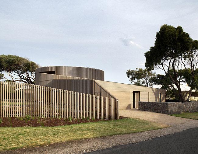 contemporary sculptural building