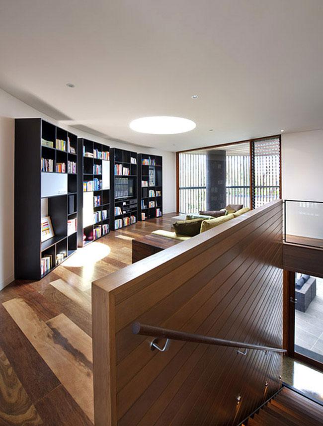 contemporary sculptural home livingroom