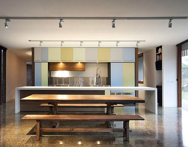 contemporary sculptural house kitchen interior