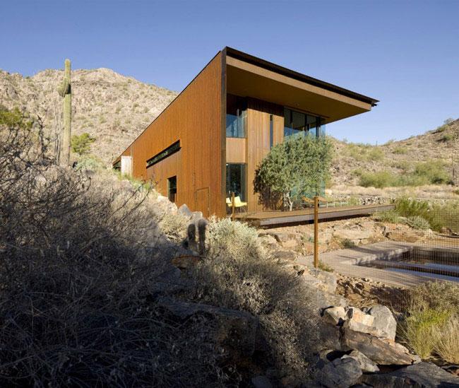 desert house modern sculptural form