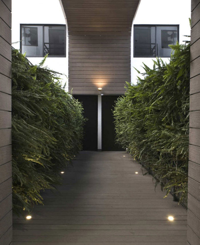 living gardens with trees plants