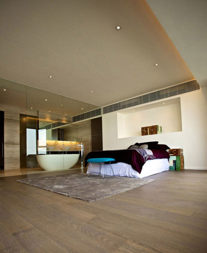 stylish home bedroom interior