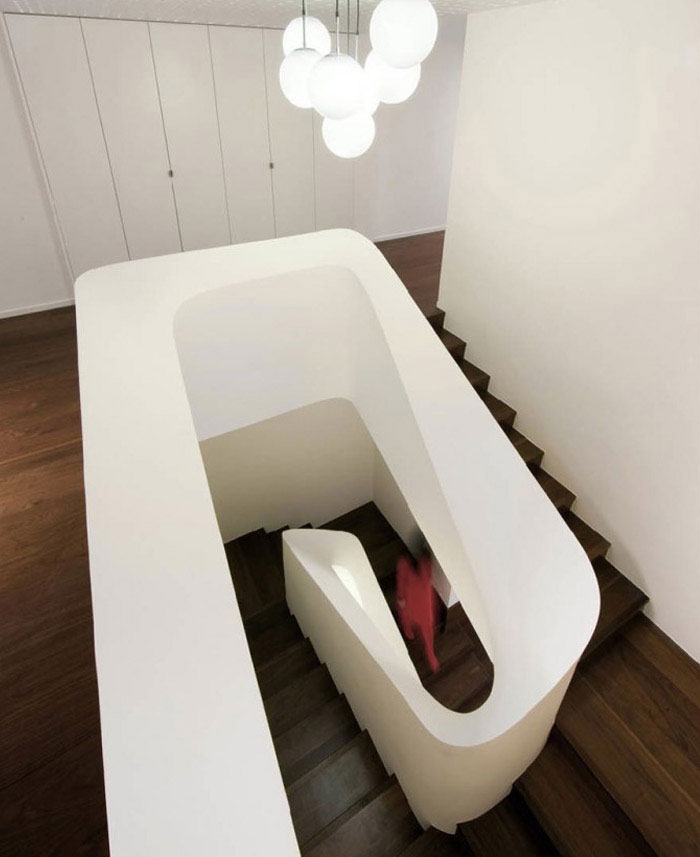 stylish home interior staircase