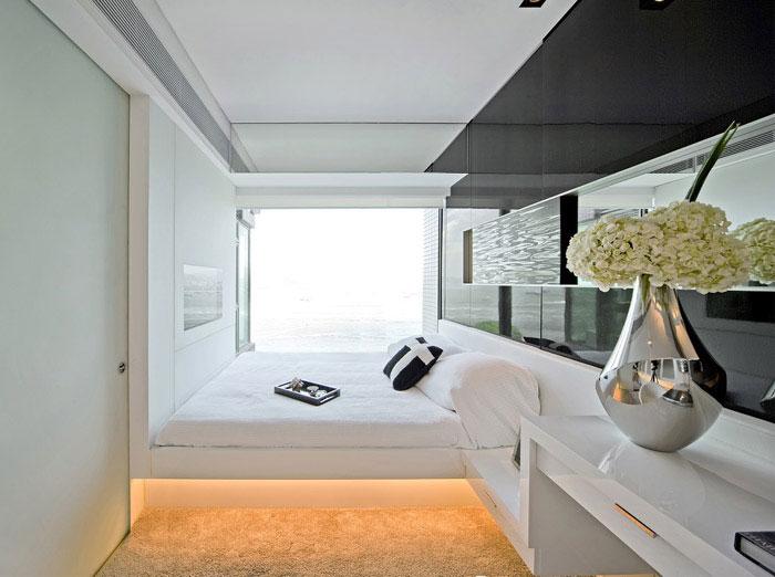 victoria bay front apartment interior bedroom