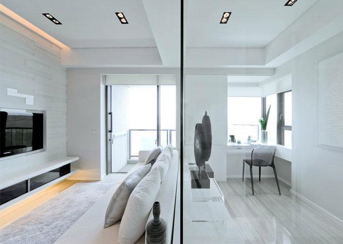 victoria bay front apartment interior livingroom
