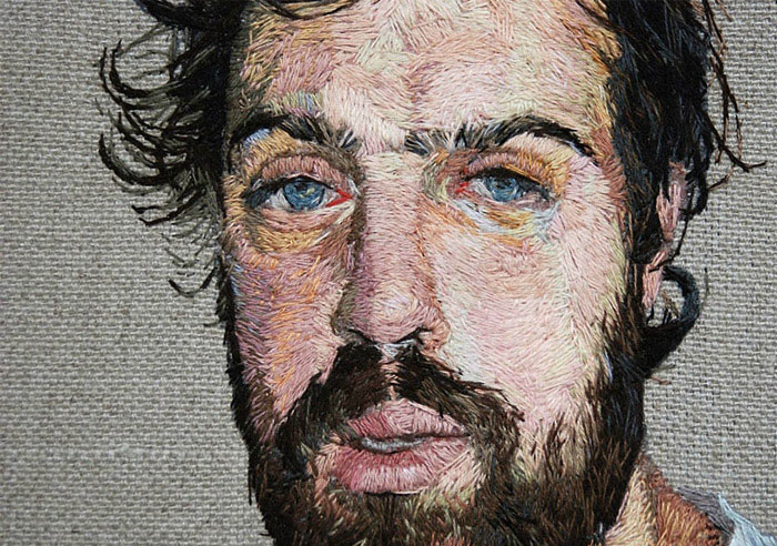 embroidered portraits daniel kornrumpf