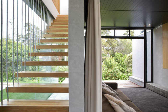 modern holiday house stairs