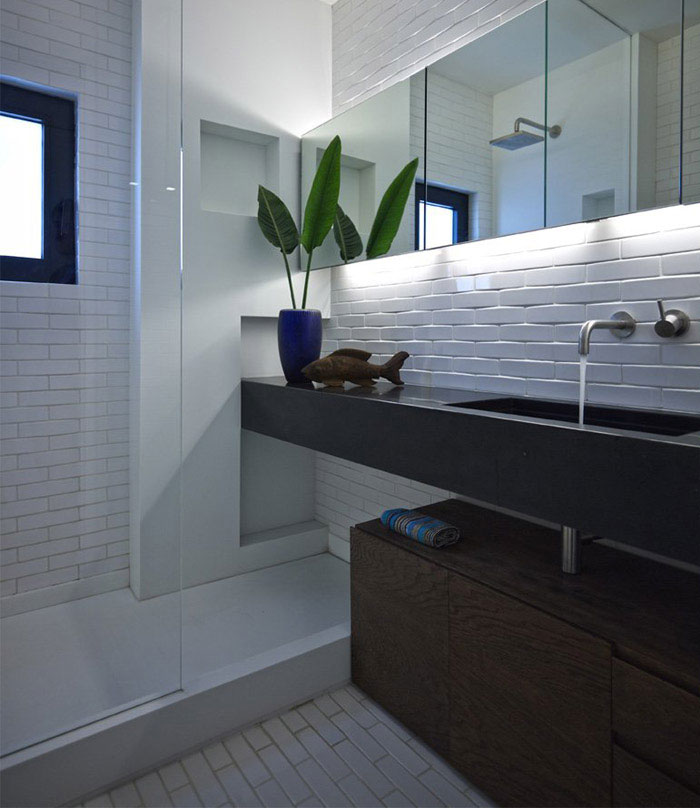 small remodeling project bathroom