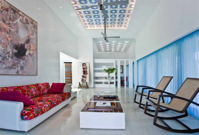 colombian contemporary house interior living room