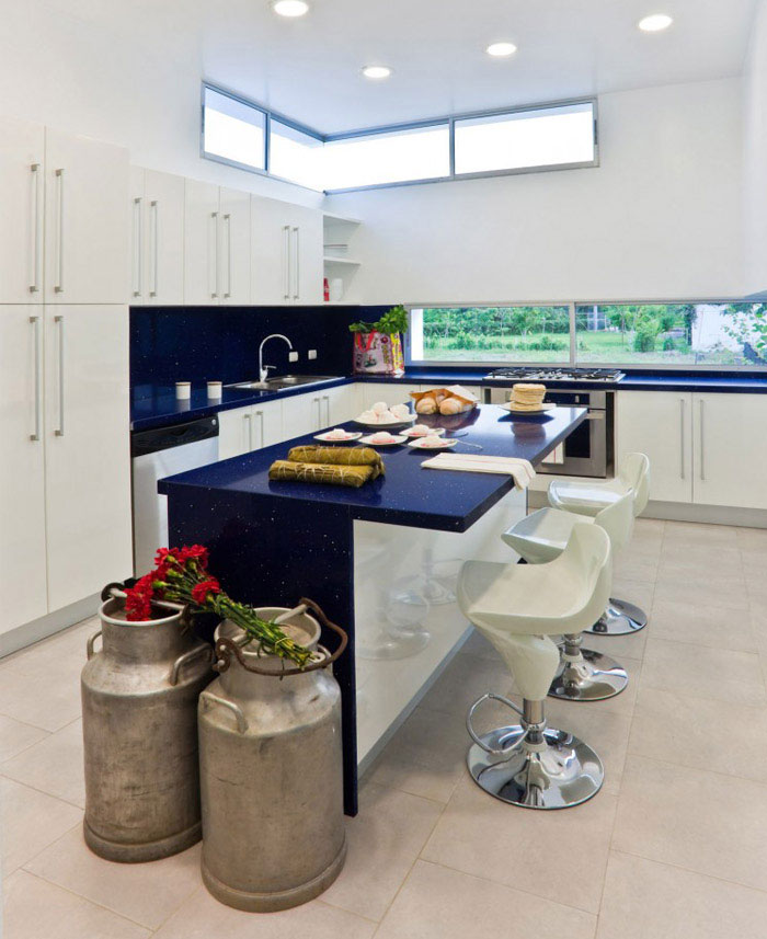 colombian contemporary house kitchen