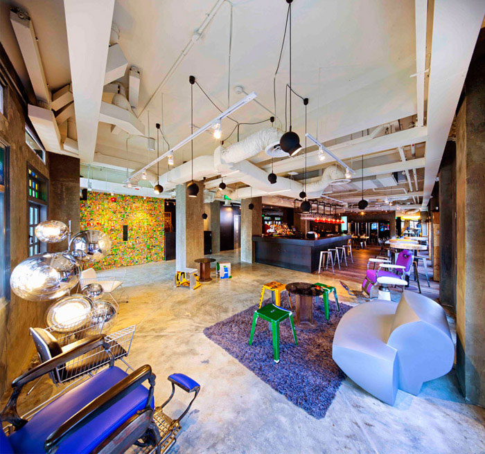 contemporary design hotel loby interior