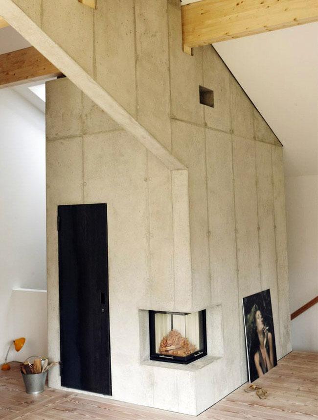 cool concrete interior living area