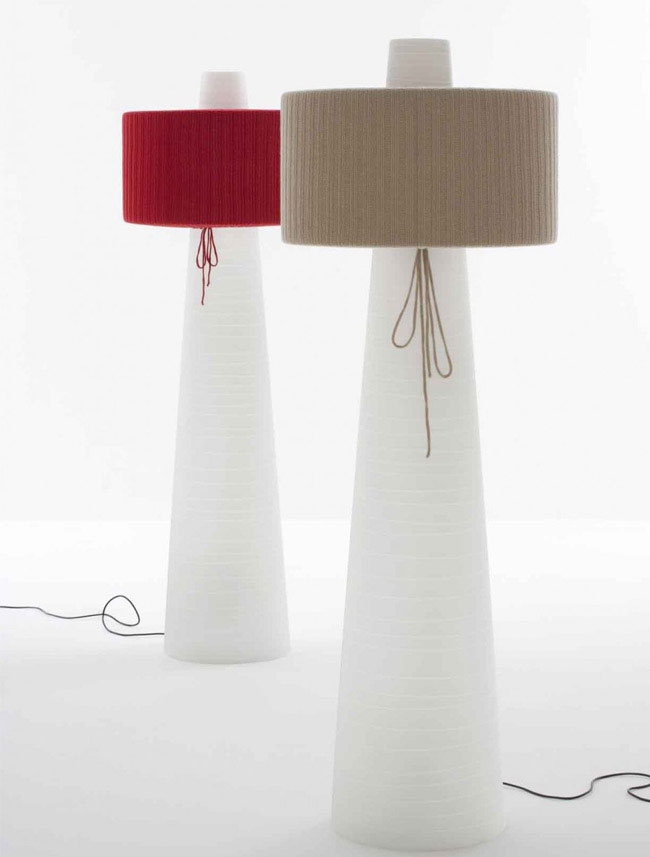 floor lamp textile design