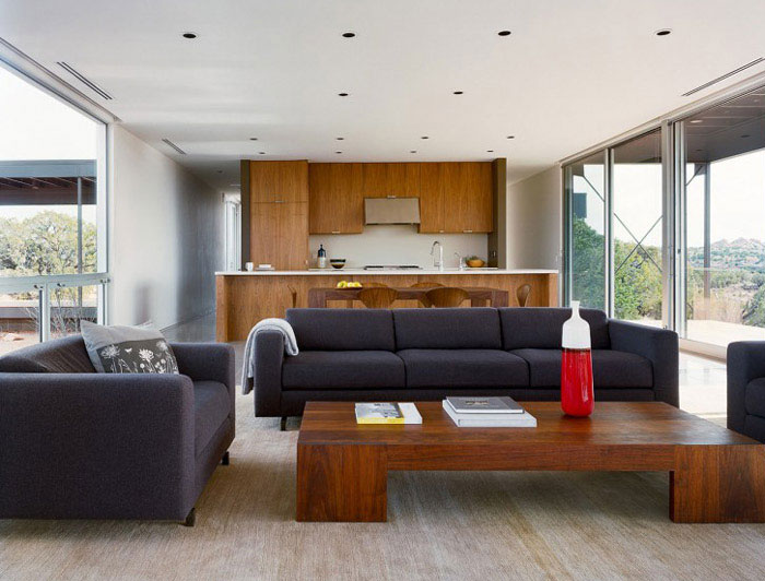 sustainable designed residence interior living room