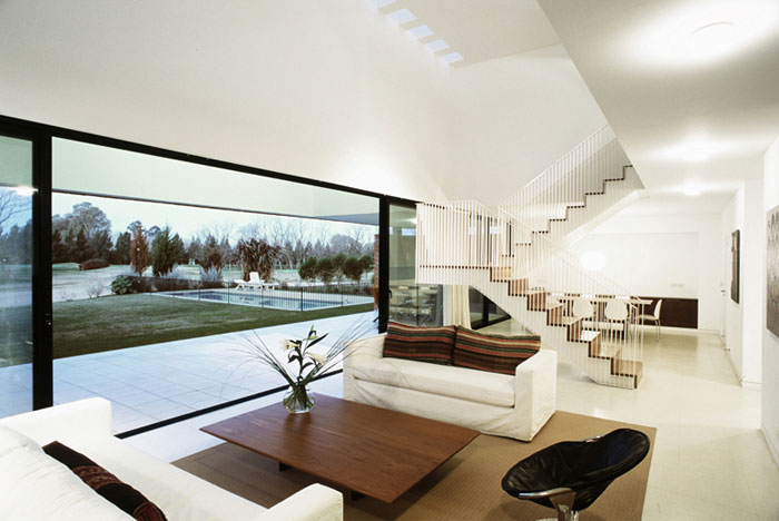very large urban house interior living area
