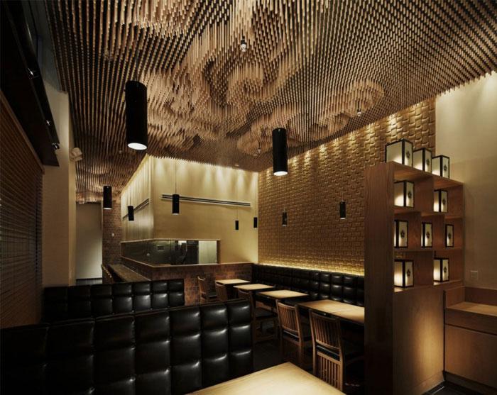 wooden sticks ceiling decor2