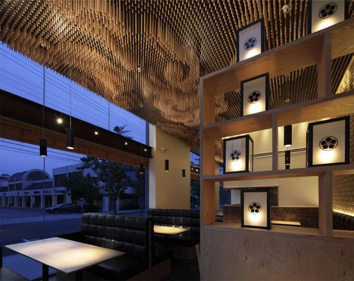 wooden sticks ceiling decor3