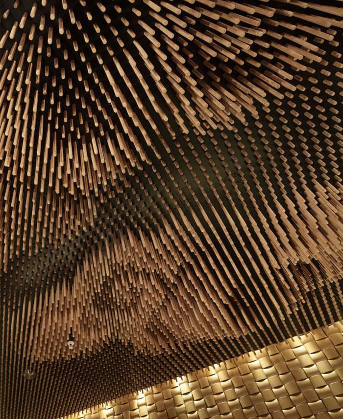 wooden sticks ceiling decor4