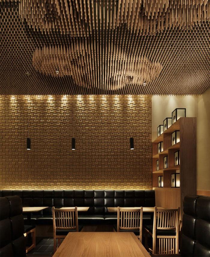 wooden sticks ceiling decor5