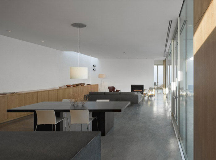 modern residence dining area