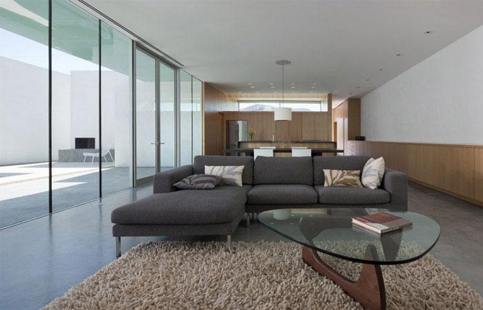 modern residence living area