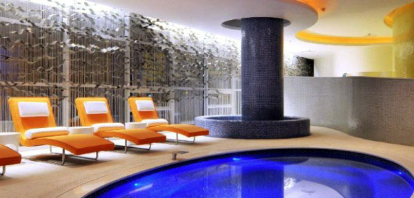 oasis club interior pool area