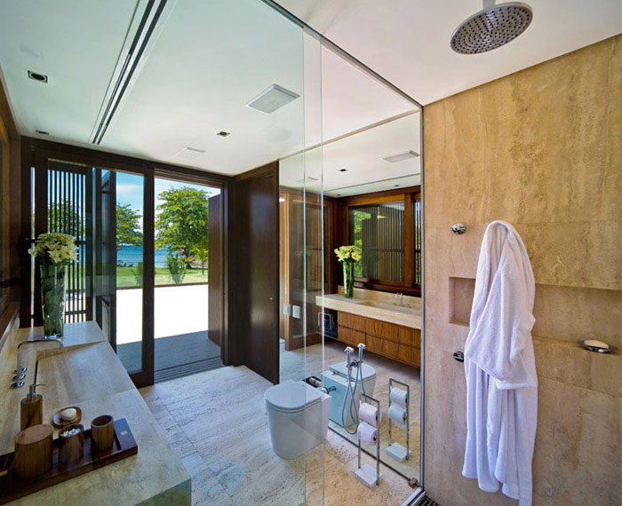 summer house interior bathroom