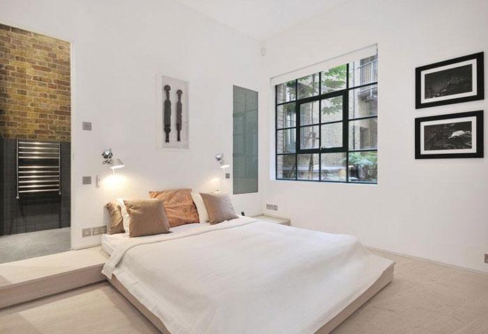 custom designed contemporary apartment bedroom