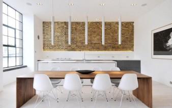 custom designed contemporary apartment dining area 338x212