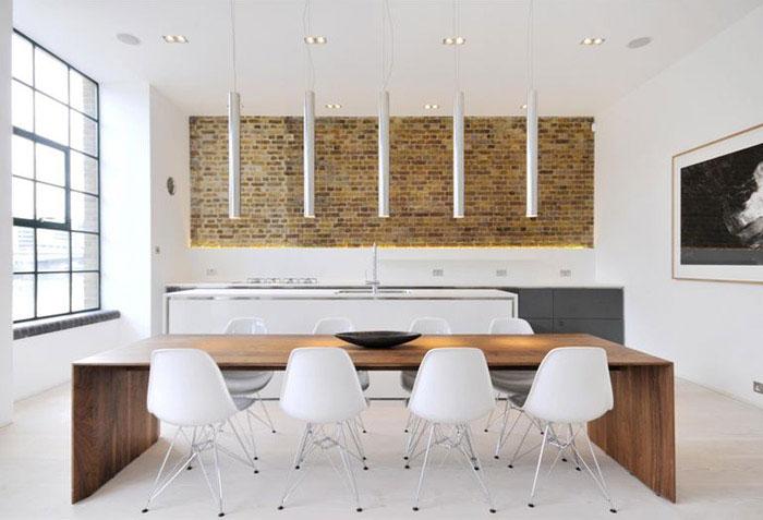 custom designed contemporary apartment dining area