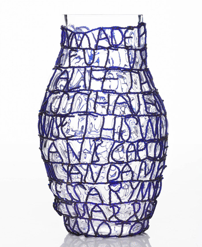 front story vases blue