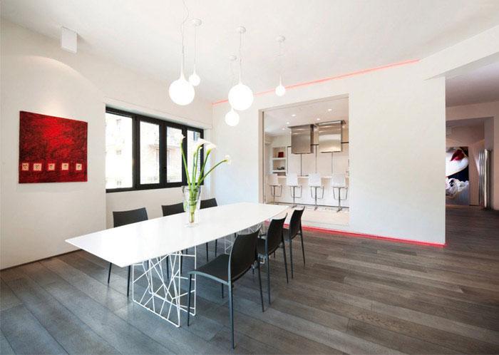 luxurious apartment interior design dining room