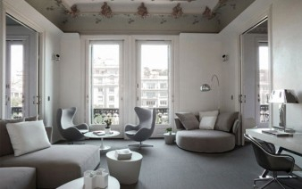 monochromatic colour flat interior living area 338x212