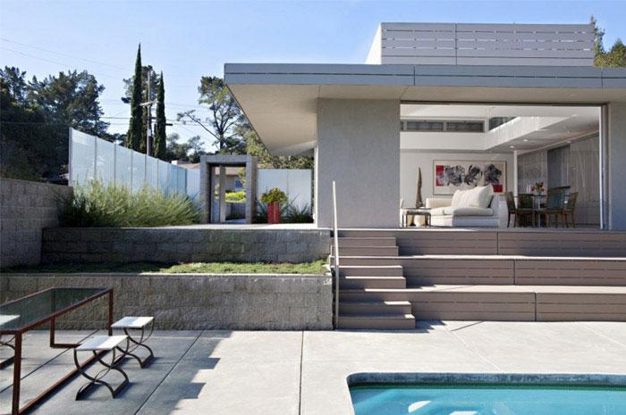 simple home pool area