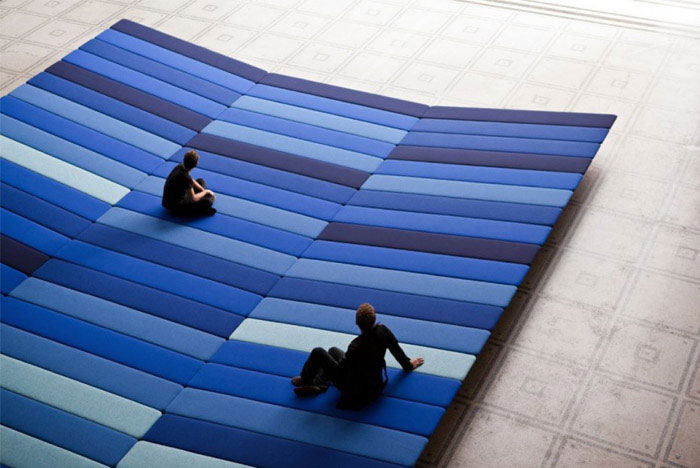 textile field installation by ronan and erwan bouroullec