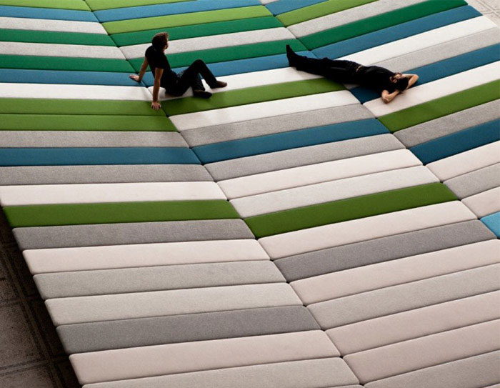 textile field installation by ronan and erwan bouroullec3